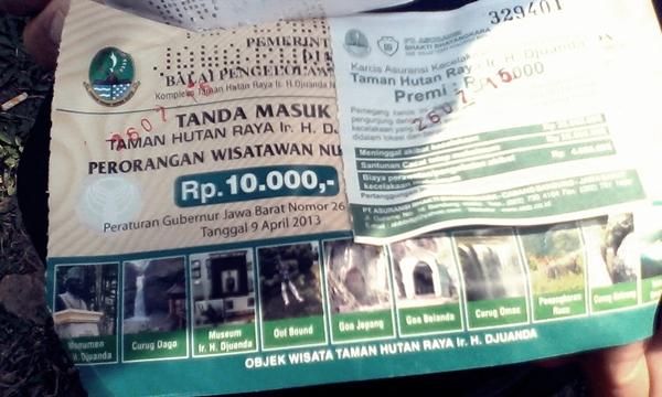 Tiket Masuk Maribaya di Taman Hutan Ir H Juanda
