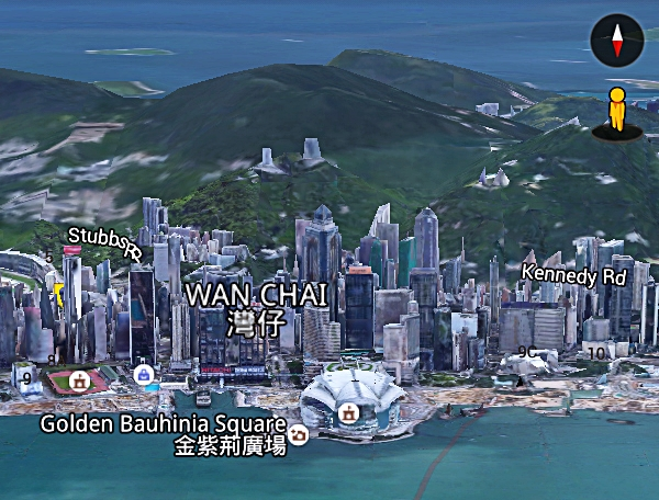 Hong Kong Island dari Avenue of Star