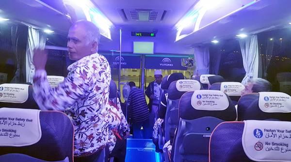 Naik Bus menuju Hotel Madinah
